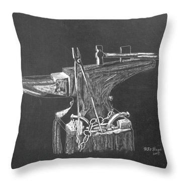 Anvil Throw Pillow