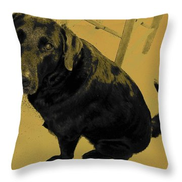 Any Chance I Can Go With You Throw Pillow by Lenore Senior