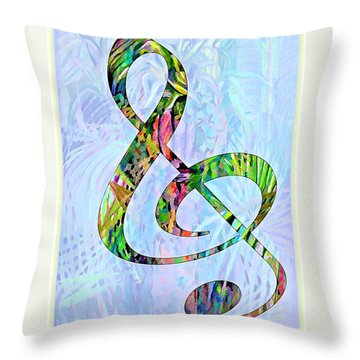 Any Kind Of Music Will Do Throw Pillow by Mindy Newman