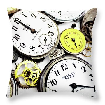 Anybody Really Know What Time It Is Throw Pillow by Pat Cook