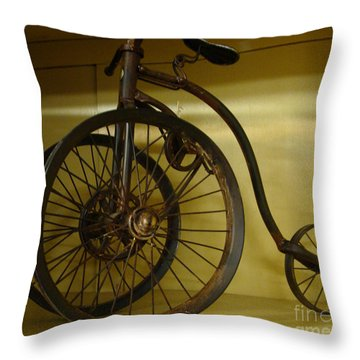Anyone For A Bike Ride?  Throw Pillow by Rod Jellison