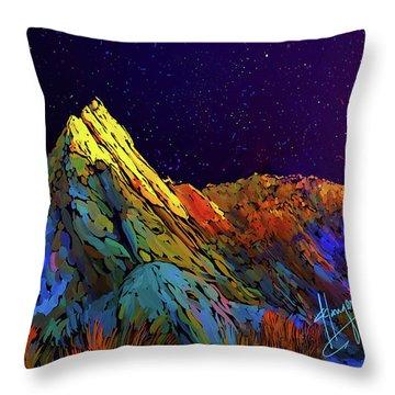 Anza Borrego Desert Peak Throw Pillow