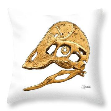 Anzu Wyliei Skull Throw Pillow