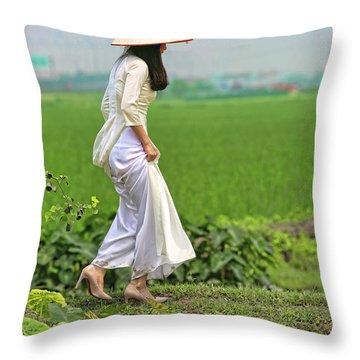 Ao Dai II Throw Pillow