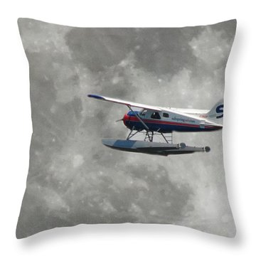 Aop And The Full Moon Throw Pillow by Mark Alan Perry