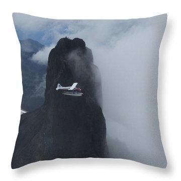 Aop At Black Tusk Throw Pillow by Mark Alan Perry
