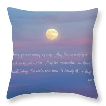 Apache Blessing Harvest Moon 2016 Throw Pillow