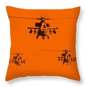 Apache Dawn Throw Pillow by Pixel  Chimp