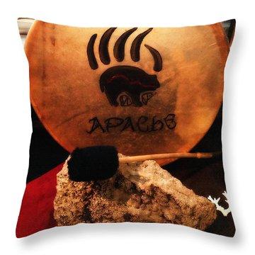 Apache Drum Throw Pillow