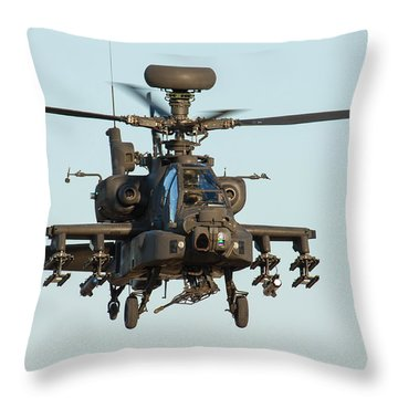 Apache Throw Pillow by Ken Brannen