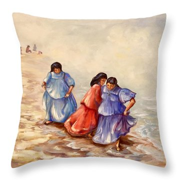 Apache Ocean Dance Throw Pillow