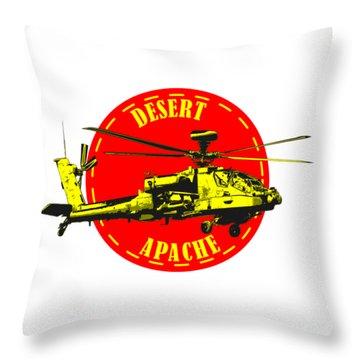 Apache On Desert Throw Pillow