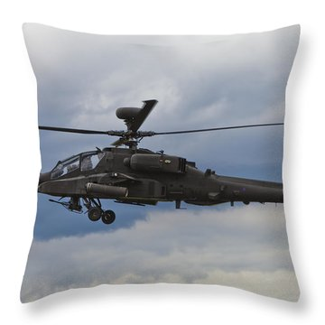 Apache Power Throw Pillow by Maj Seda