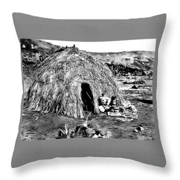 Apache Wikiup Throw Pillow