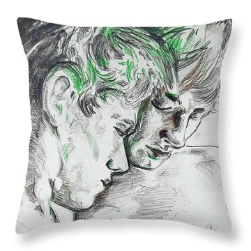 Throw Pillow featuring the painting Apallo And Hyacinth  by Rene Capone
