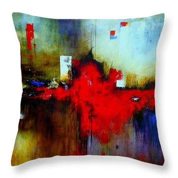Apariencias Throw Pillow by Thelma Zambrano