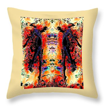 Apart Throw Pillow