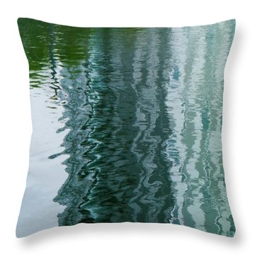 Apartment Building Reflection, Confluence Park, Denver, Colorado Throw Pillow