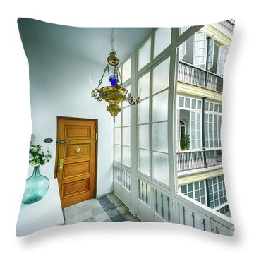 Throw Pillow featuring the photograph Apartment In The Heart Of Cadiz 17th Century Cadiz by Pablo Avanzini