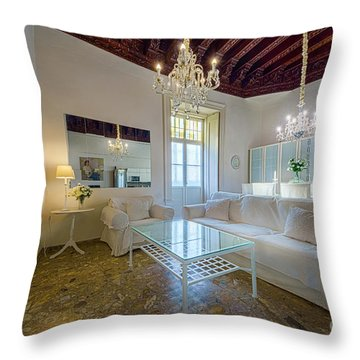 Throw Pillow featuring the photograph Apartment In The Heart Of Cadiz 17th Century by Pablo Avanzini