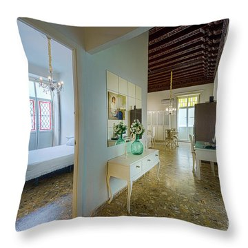 Throw Pillow featuring the photograph Apartment In The Heart Of Cadiz 17th Century Spain by Pablo Avanzini