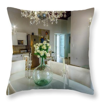 Throw Pillow featuring the photograph Apartment In The Heart Of Cadiz Spain 17th Century by Pablo Avanzini