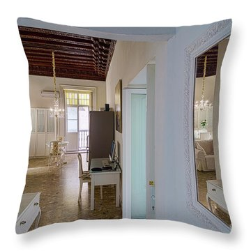 Throw Pillow featuring the photograph Apartment In The Heart Of Cadiz Spain by Pablo Avanzini