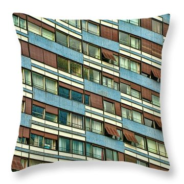 Throw Pillow featuring the photograph Apartment Windows by Kim Wilson
