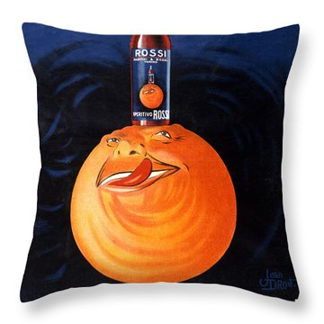 Aperitivo Rossi - Alcoholic Beverages - Vintage Advertising Poster Throw Pillow