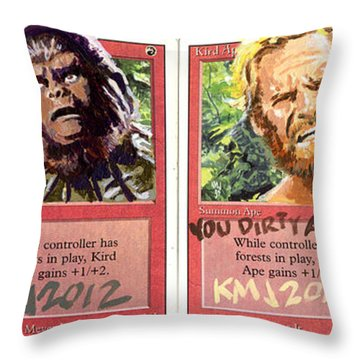 Apes Is Apes Throw Pillow by Ken Meyer jr