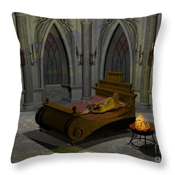 Throw Pillow featuring the digital art Aphrodite by Sipo Liimatainen