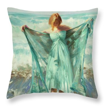 Oregon Coast Throw Pillows