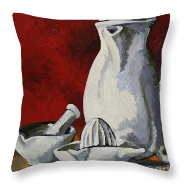 Throw Pillow featuring the painting Apilco No. 4 by Erin Fickert-Rowland