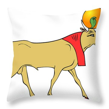 Apis - Egyptian Sacred Bull Throw Pillow