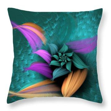 Apo Flower Throw Pillow