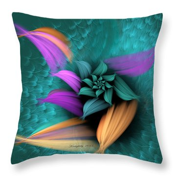 Apo Flower Throw Pillow