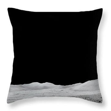 Apollo 15 Landing Site Panorama Throw Pillow