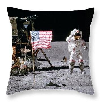 Apollo 16 Throw Pillow