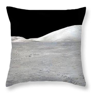 Apollo 17 Panorama Throw Pillow by Stocktrek Images