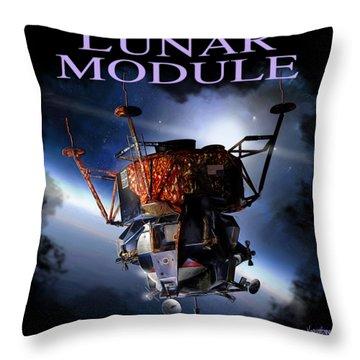 Apollo 9 Lm Throw Pillow