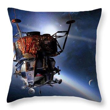Apollo 9 Lunar Module Throw Pillow