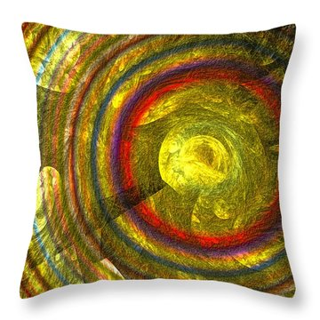 Throw Pillow featuring the digital art Apollo - Abstract Art by Sipo Liimatainen