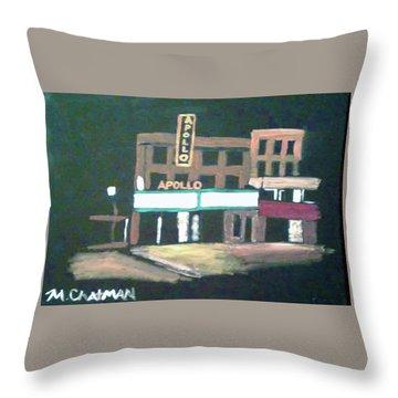 Apollo Theater New York City Throw Pillow