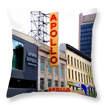 Throw Pillow featuring the photograph Apollo Theater by Randall Weidner