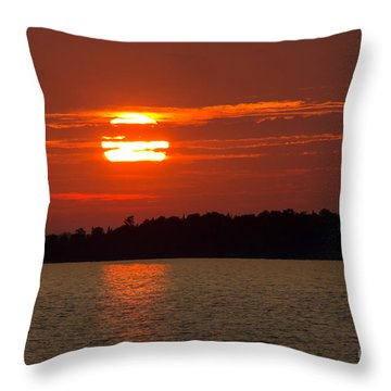 Apostle Island Sunset Throw Pillow