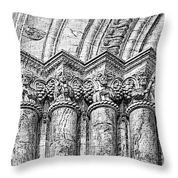 Apostles On Immaculate Conception II Throw Pillow by Al Bourassa