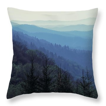 Appalachian Blue Throw Pillow