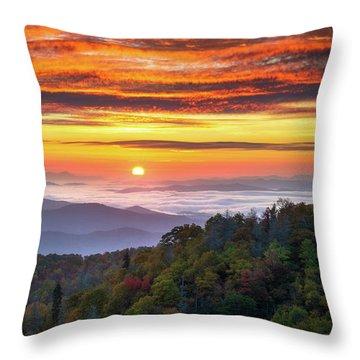 Appalachian Mountains Asheville North Carolina Blue Ridge Parkway Nc Scenic Landscape Throw Pillow
