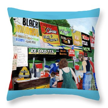 Appalachian Picnic Throw Pillow by Sandy McIntire