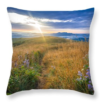 Appalachian Sunrise Throw Pillow